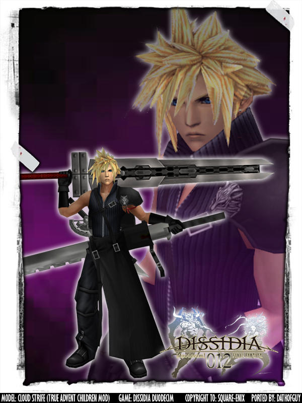 Dissidia Cloud Strife True Advent Children Mod By