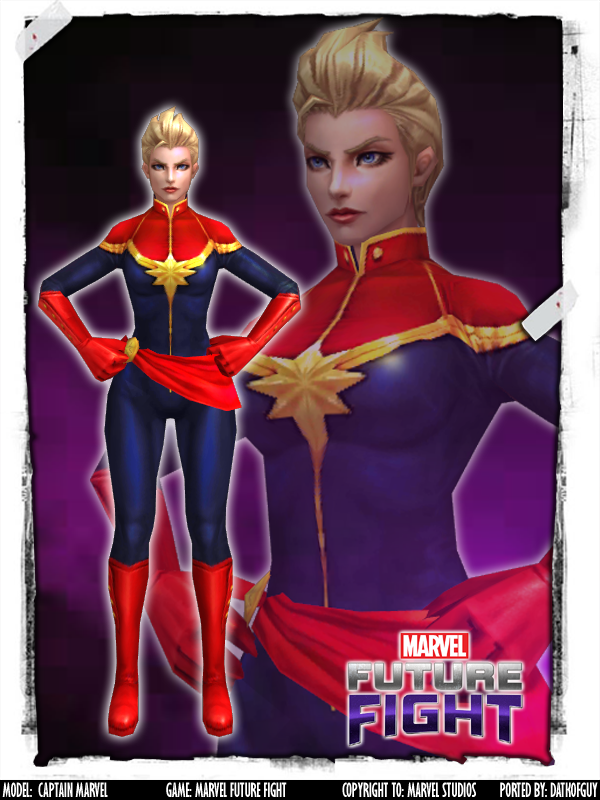 MARVEL Future Fight - Captain Marvel by DatKofGuy