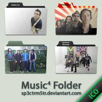 Music Folder 4 ICO by sp3ctrm5tr