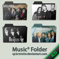 Music Folder 9 ICO by sp3ctrm5tr