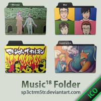 Music Folder 18 ICO by sp3ctrm5tr