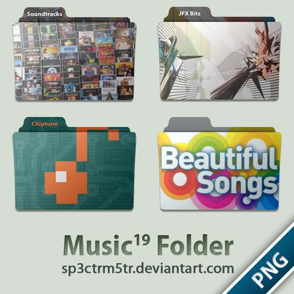 Music Folder 19 PNG