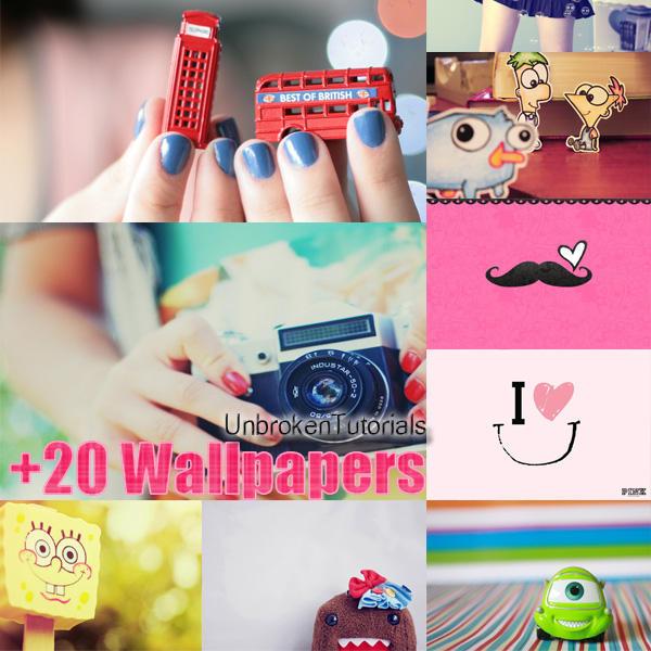 Pack +20 Wallpapers by UnbrokenTutorials