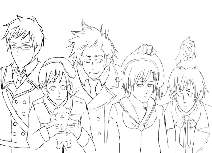 hetalia coloring pages allies - photo#3