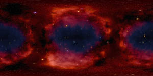 Red nebulae.