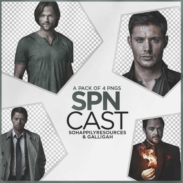 Supernatural Cast PNG Pack 003