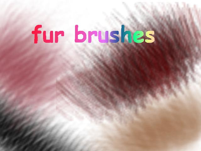 Fur brushes by xXmoonXx44
