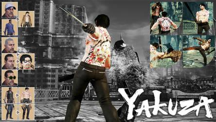 YAKUZA Inspired | Negan as Goro Majima by Siddiqy