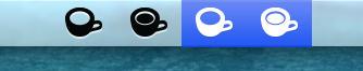 Retina Caffeine menubar icons