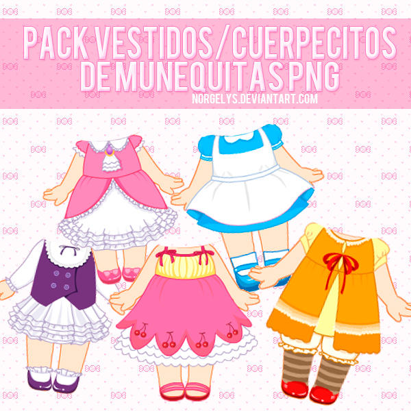 Pack de Vestidos PNG by Norgelys