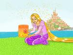 Rapunzel with a lantern