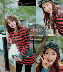#PSD4 Cute Black and Red by Kwonsandra