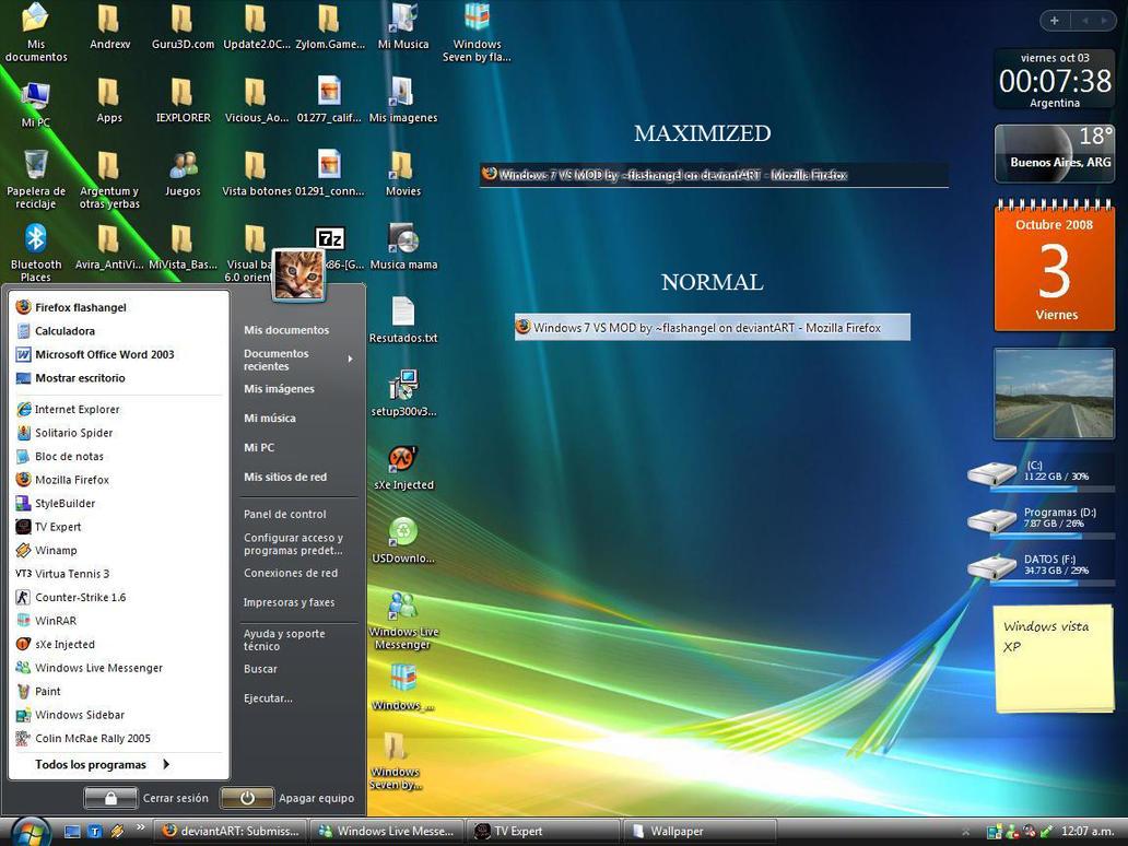 Windows 7 VS MOD by flashangel