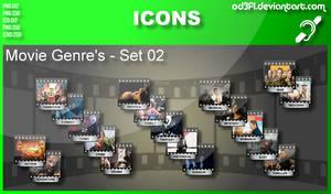 Movie Genre Icons - Set 02