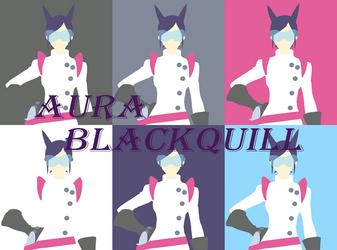 Aura Blackquill Minimalist Wallpaper by RavenclawChic