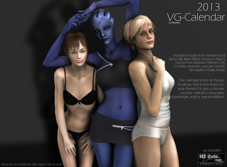 2013 Videogame Women Calendar by sHoNi89