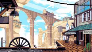 Steampunk Western Town