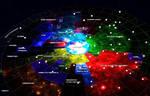 Milky Way Political Map Concept