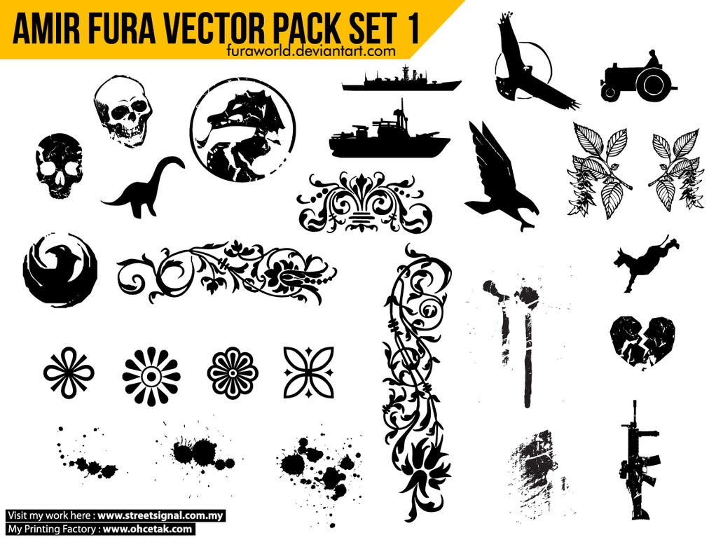 Amir Fura Vector Pack Set 1 by furaworld