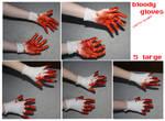 bloody hands stock
