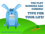 NaNoWriMo Plot Bunny Wallpaper