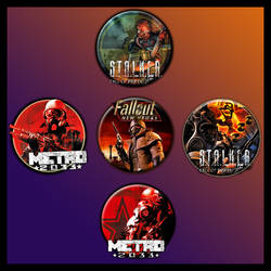 Post Apocalyptic Game Icons by sirithlainion