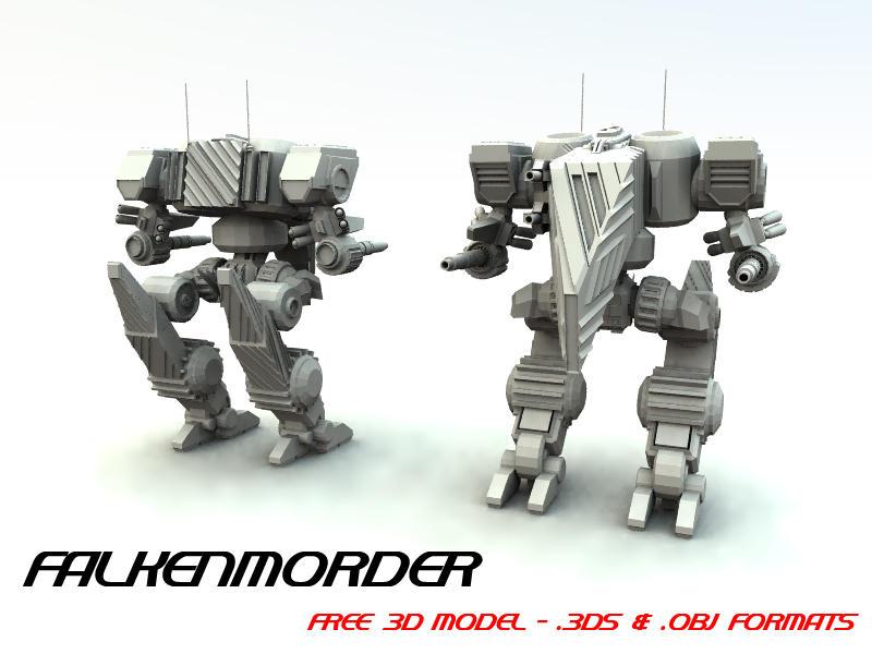 Free 3d Mech Model 02 By Tdbk On Deviantart