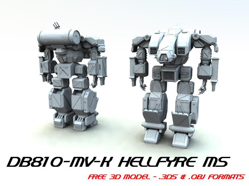 FREE 3D MECH MODEL 03 by TDBK
