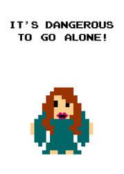 It's Dangerous To Go Alone by hawklawson