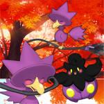 Shiny Murkrow and Shiny Pumpkaboo! (Animated)