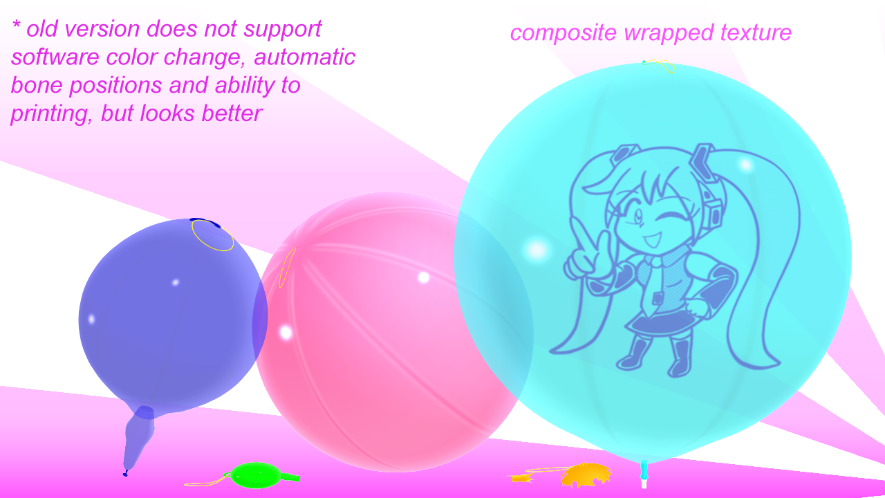 Imbapovi Deviantart: Punch Balloons MMD Models (inflatable) By Imbapovi On