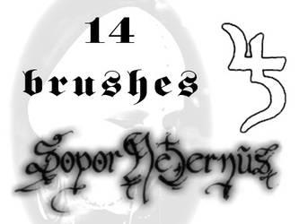 Sopor Aeternus brushes by VampireLouis