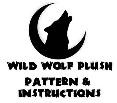 Wolf plushie instruction book