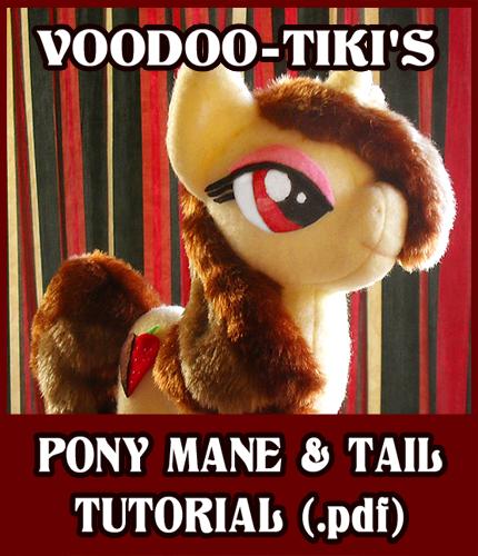 Pony Mane and Tail Tutorial by Voodoo-Tiki