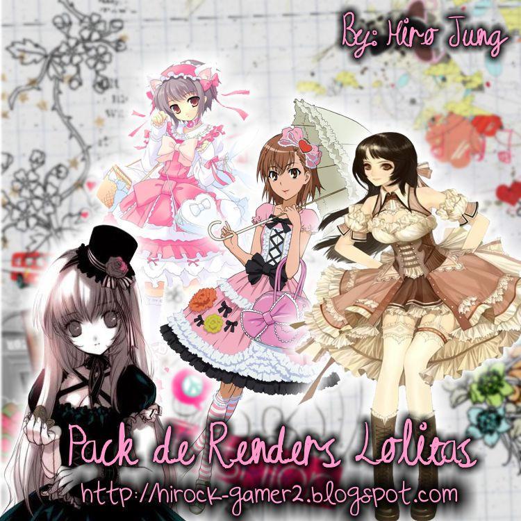 Pack Anime Lolitas 'Renders' by Ulquiorra-Himura