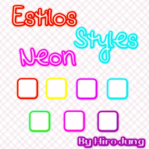 Styles Estilos PS7 Neon by Ulquiorra-Himura