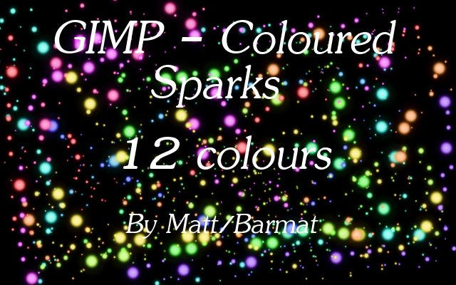 GIMP Coloured Sparks by barmat