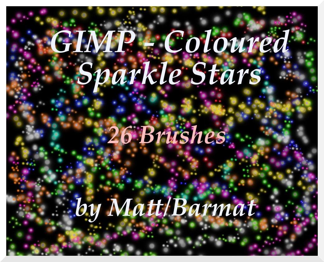 GIMP Coloured Sparkle Stars by barmat