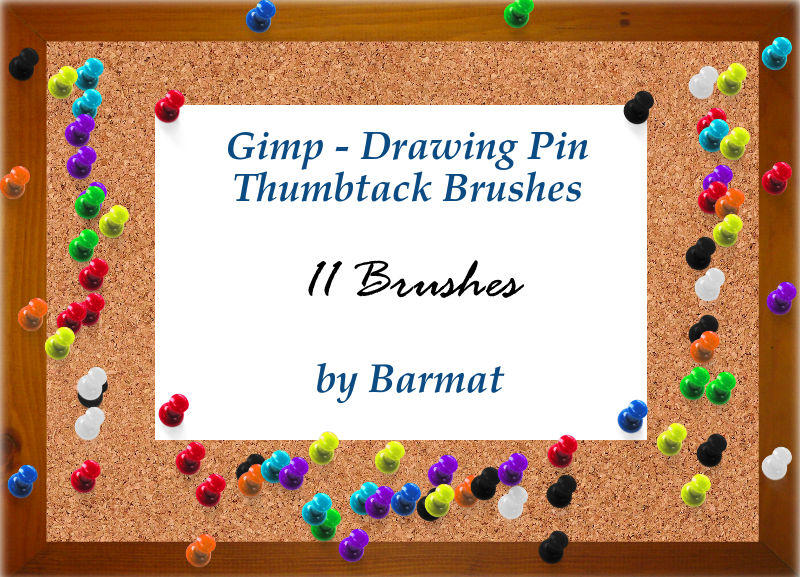 GIMP brushes Thumb Tacks by barmat