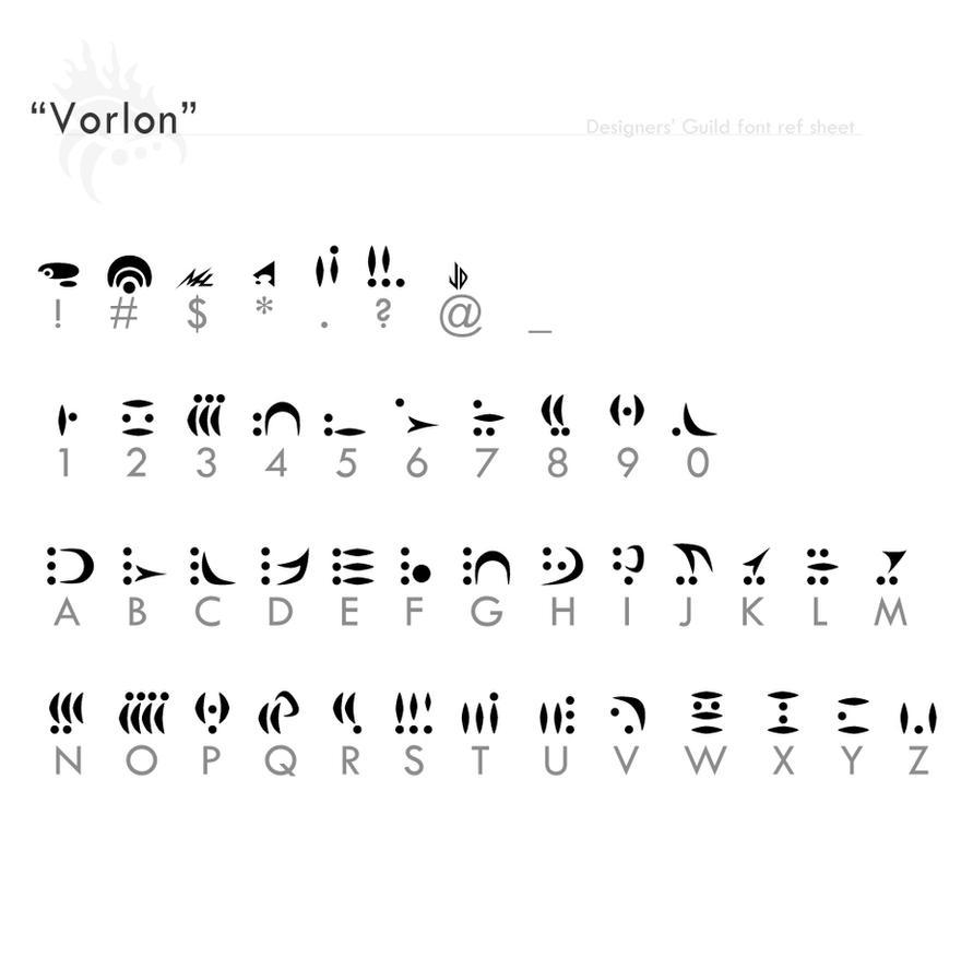 """Vorlon"" fontref + resources by Designers-Guild"