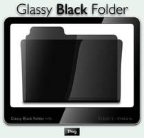 Glassy Black Folder Icon by Thvg