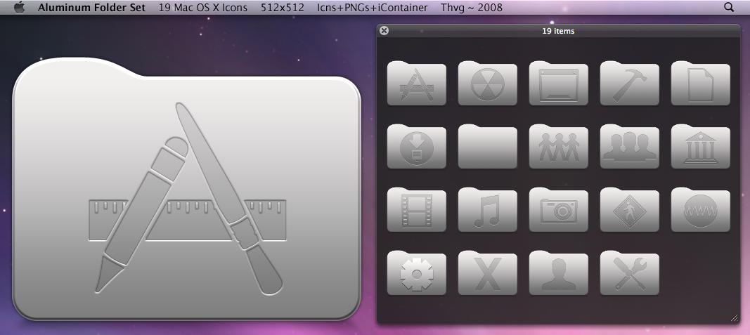 Aluminum Folder Set