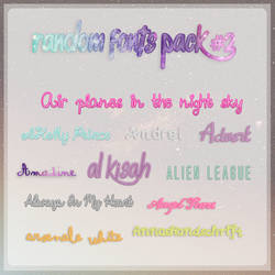Font pack #2 by shiny-a