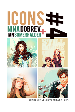 Four Icons of Ian Somerhalder and Nina Dobrev by shadoworld