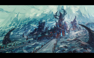 Winter Temple - Process by Frostwindz