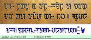 Baybayin Modern Divine Font by Nordenx