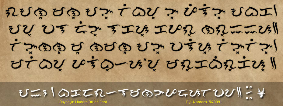 Baybayin Modern Brush Font by Nordenx