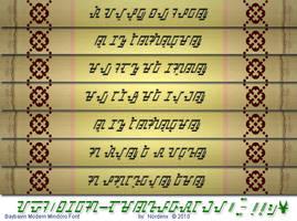Baybayin Modern Mindoro Font by Nordenx
