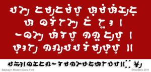 Baybayin Modern Gana Font by Nordenx