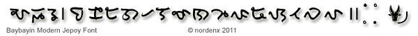 Baybayin Modern Jepoy Font by Nordenx